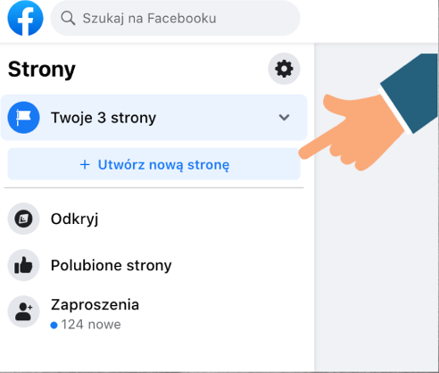 Utwórz nową stronę na facebook