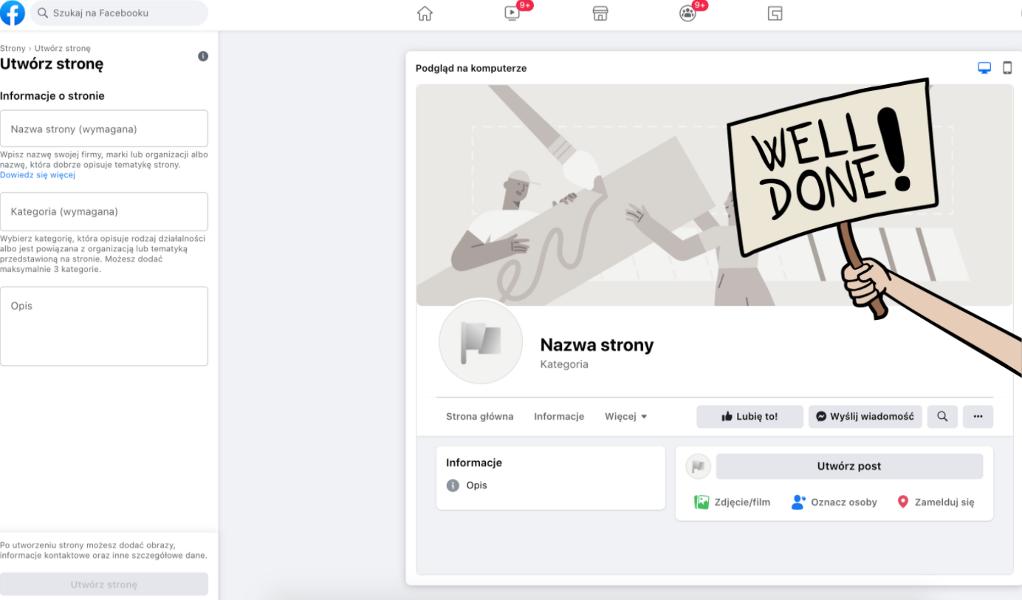 jak założyć stronę firmową na fb