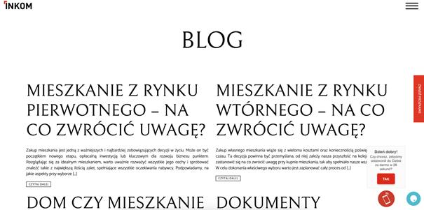 blog deweloper